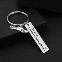 Simple Keychain Car Airplane Compass Pendant Be Safe Letter Alloy Unisex... - $8.05