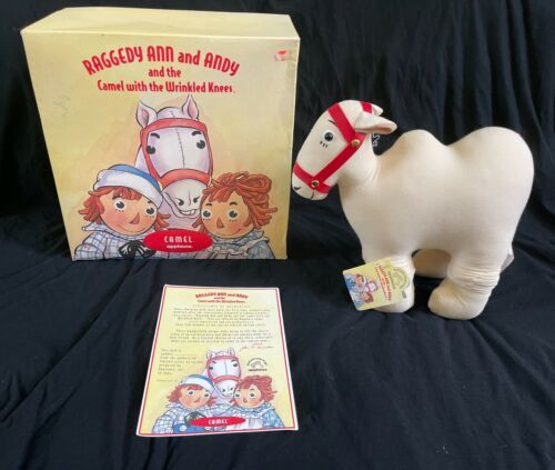 IOB Raggedy Ann and Andy Camel with Wrinkled Knees Applause Box A