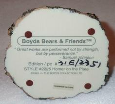 Boyd Bearstone Resin Bears Homer On The Plate RED Figurine #2225 31E NEW IN BOX image 4