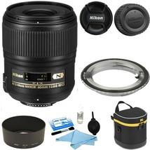 Nikon AF-S Micro NIKKOR 60mm f/2.8G ED Lens w/ Case & Camera Lens Adapte... - $741.70