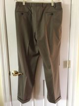 Ralph Lauren Mens 100% Wool Suit 44 Lord & Taylor Olive image 10