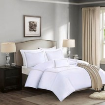 Luxury 5pc White & Tan 1000TC Cotton Duvet w/Comforter AND Decorative Pi... - $4.198,86 MXN+