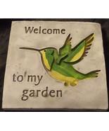 Cute Momentum Brand Molded Garden Wall Plaque - WELCOME - VGC - PRETTY P... - $19.79