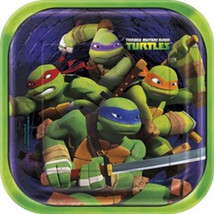 "Teenage Mutant Ninja Turtles 9"" 8 Square Lunch Plates Party TMNT - $3.79"