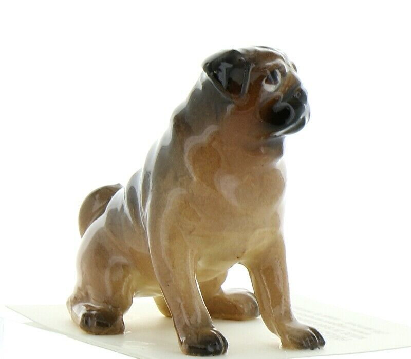 Hagen Renaker Dog Pug Mama Tan Ceramic Figurine