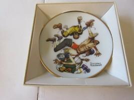 Norman Rockwell Four Seasons Mini Plate - First  Down Football- Autumn 1951 - $5.94