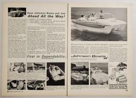 1964 Print Ad Johnson Boats & Stern Drives Outboard Motors Waukegan,Illinois - $14.83