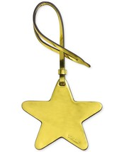Coach Nwt $30 Leather Gold Star Purse Charm 21534B Mqu Metallic Lemon Yellow - $9.89