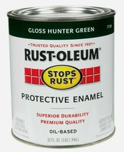 Rust-Oleum GLOSS HUNTER GREEN 1qt Stop Rust PROTECTIVE ENAMEL Oil-Based ... - $19.99