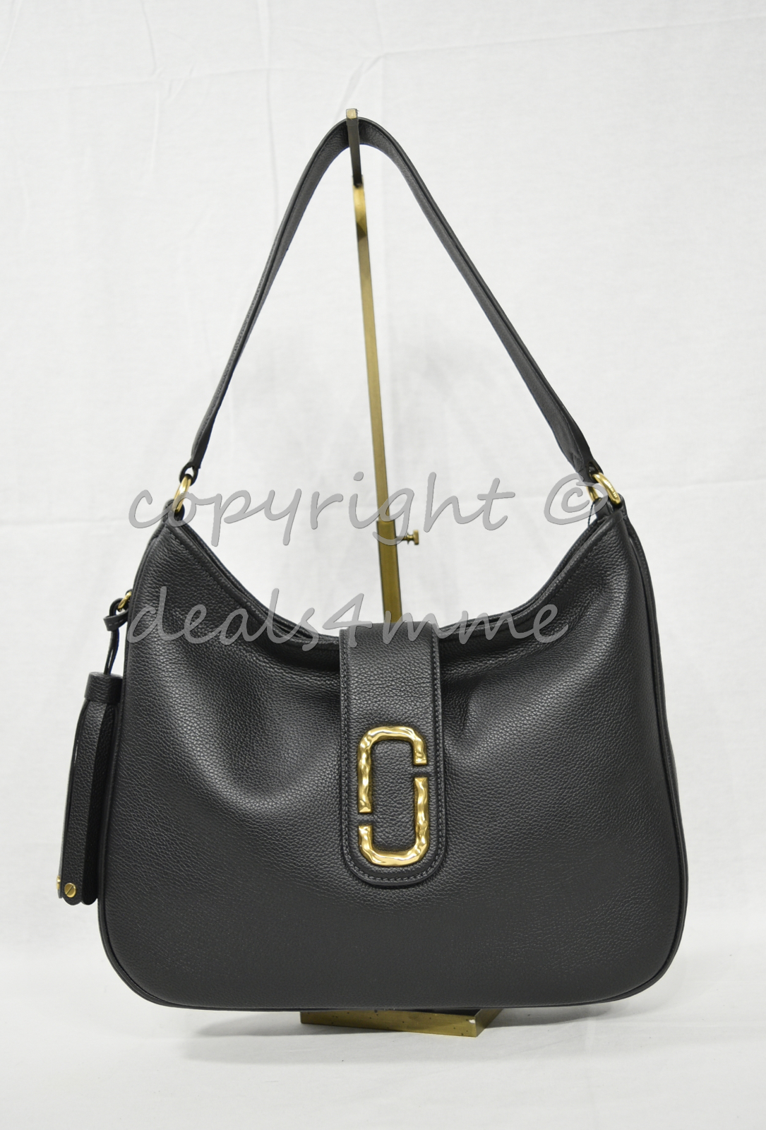 Primary image for MARC By Marc Jacobs M0011064 Leather Interlock Hobo / Shoulder Bag - Black $550