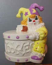 "Clown Cookie Jar Ceramic Musical Hand Painted 9.5 x 7"" - $34.00"