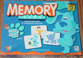 Memory Game Blues Clues 2003 Milton Bradley #41579 Made In Usa Complete - $10.00