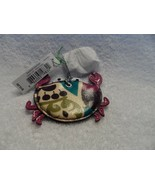 VERA BRADLEY Seashore Keychain Key Chain Fob Lobster Plum Crazy Split Ring - $16.00