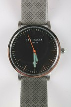 Ted Baker TE50624001 Men's 40mm Silver tone Stainless Steel Leather Band Watch