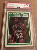 1989 FLEER BASKETBALL # 37 HERB WILLIAMS PSA GRADED NM-MT 8 NBA-Dallas M... - $9.79