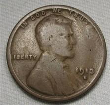 1913-S Lincoln Wheat Cent GOOD Coin AE409 - $8.80