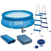 Intex 15' x 48 Inflatable Pool, Ladder, Pump and Hydrotools Chlorine Dispenser - £1,246.47 GBP