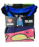 Superman Cool Johns Long Underwear XL 40 42 Medium NEW Lounge Sleep Shirt - $16.00