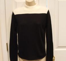 new/pkg Newport News J.R.T black/ivory 100% Acrylic Sweater Made In Usa Xsmall - $16.82