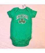 The Childrens Place Green 1pc IRISH Bodysuit 0-3M Shamrock St. Patricks Day - $14.60