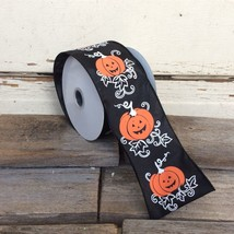 Darice Craft Supply - Halloween Jack O Lantern Ribbon 25ft x 2.5inch - £9.82 GBP