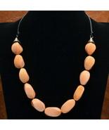 Light Orange Sea Coral Necklace - New - $26.00