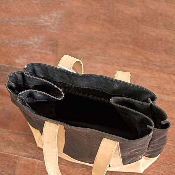 On Sale, Full Grain Leather Bag, Tote Bag, Large Shoulder Bag, Shopping Bag image 5