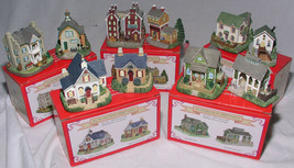 10 Liberty Falls Village Mini Porcelain Houses Hotel Mill Farm Church 19... - $84.99