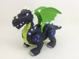 Imaginext Walking Dragon Black Toy Flapping Wings w Batteries 2007 Fisher Price - $26.68