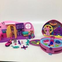 Polly Pocket Transformation Go Tiny Doll Playset +Tiny is Mighty Theme Park  - $46.74