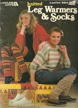 Knitted Leg Warmers and Socks Leisure Arts Leaflet 224  - $9.99