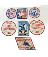 7 Vintage Embroidered Appliques Sports Softball Snowmobile Tee Ball Jr O... - $14.99