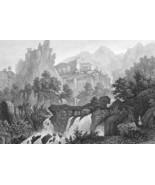 ITALY Rome & Environs Tivoli Subiaco - 1860 SCARCE Print Multiple Views - $33.66