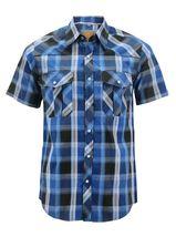 Men's Western Short Sleeve Button Down Casual Plaid Pearl Snap Cowboy Shirt image 9
