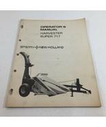 Genuine New Holland Super 717 Harvester Operator's Manual Original - $24.99