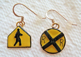 Lunch at the Ritz Pedestrian & RR Crossing Petite Pierced Earrings - $11.88