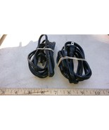 7WW36 POWER CORDS, 2 PIN 18 GAUGE, 6' LONG R-R-0 & 5' LONG R-Q-8, VERY G... - $9.67