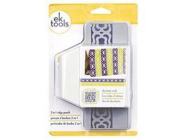 EK Tools 2-in-1 Edge Punch, Flourish Squares
