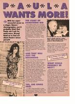 Paula Abdul teen magazine pinup clipping Paula wants more 90's
