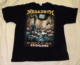 T-Shirt concert  Megadeth Endgame album logo front title song lyrics back - $14.99