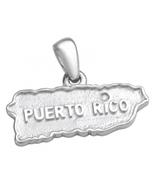 Coqui el Original® 3D Sterling silver .925 map of Puerto Rico charm/pendant - $60.00