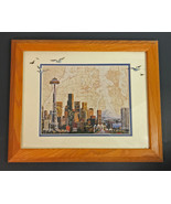 Betty Vestuto Seattle Skyline Chart Art  Limited Reproduction 471/1000 - $43.65