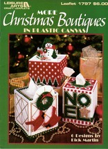 More Christmas Boutiques in Plastic Canvas Tissue Boxes Snowman Noel Sno... - $6.95