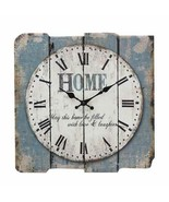 "Rustic Clock Square 15"" Blue Home Farmhouse Style Kitchen Living Room New - $51.41"