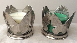 BBW Set of Medium Candle and Metal Candle Holder Butterfly Shaped. Select 1. - $19.50