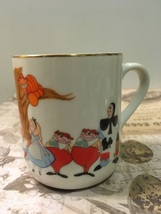 Vintage Walt Disney Alice In Wonderland Porcelain Coffee Cup - $9.00