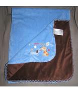 Koala Baby Blue My Best Friend Dog Baby Blanket Dark Brown Reversable Side Euc - $12.86