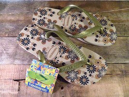 Havaianas Zehentrenner Schuhe Sandalen Blumen Design Sand Neue Größe USA... - $19.79