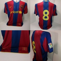 Official 2011-2012 Dri Fit Nike FC Barcelona UNICEF Home Soccer Jersey XL - $28.66