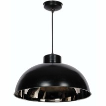Kenroy Home 92062BLNIK Domus 1-Light Pendant Black Nickel 11x20 100 Watt NEW - $182.86